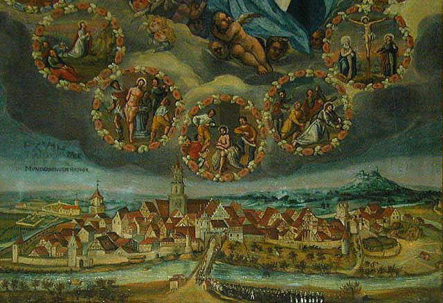 Ansicht Munderkingens von 1698