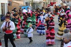 Flamenco - Tänzerinnen zu Gast beim Kinderumzug