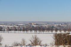 Blick auf den winterlichen Frauenberg