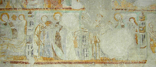 spätgotische Wandmalereien