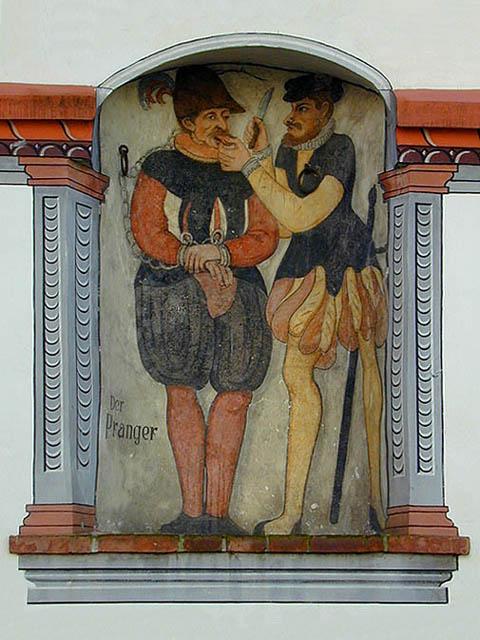 Prangerbild am Rathaus