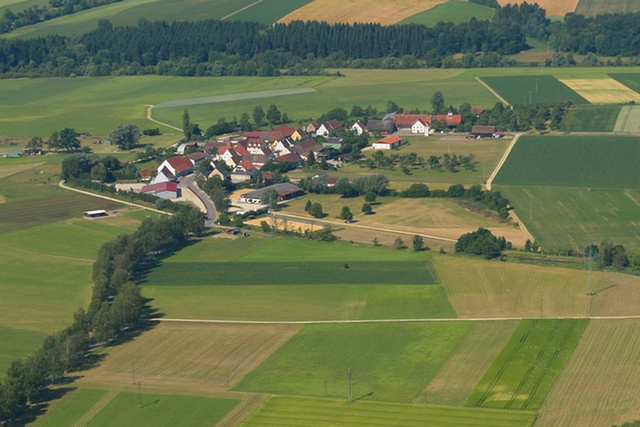 Luftbild Algershofen, Bild: Thomas Stephan